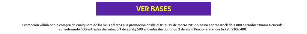 Canje de entradas Lollapalooza Chile 2017